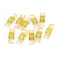amp power wire - 10 x A AMP Yellow Plastic Metal AFS Power Wire Fuse for Auto