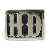 biker rings - 2014 New Top Quality Newest Cool HD Letter Biker Ring L Stainless Steel Mens Ring
