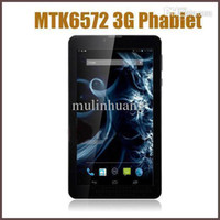 Wholesale 7inch Inch Phablet Android MTK6572 Dual Core Dual GHz MB RAM G Phone Call GPS Bluetooth WIFI Dual Camera WCDMA Tablet PC MQ06