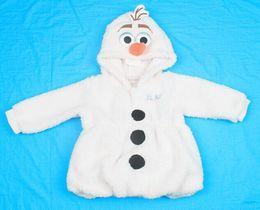 Wholesale 2014 New Arrival Frozen Olaf Baby Children Girls Boys Winter Outerwear Coat Hooded Lamb Long Sleeve Kids Snowsuit Outwear