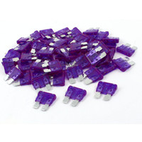 Wholesale 60PCS Amp Auto Car Purple Plastic Coated Mini Blades Fuses