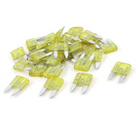 Wholesale 20A Amp Auto Car Motorcycle Mini Blade Fuse Yellow Pieces