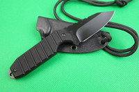 Wholesale Best Seller SCHRADE SCHF16 F16 Fixed Blade Neck Knife CR13MOV HRC Blade G10 Handle Hunting Camping Straight Knives With Kydex Sheath