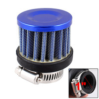 Wholesale 25mm Inlet Diameter Auto Car Air Intake Cone Filter Royal Blue