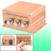 Wholesale SA W Aluminum Case Cat Car Auto Stereo Audio Amplifier Copper Tone