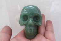 quartz crystal skull - NATURAL Aventurine JADE QUARTZ CRYSTAL SKULL SKELETON CARVING