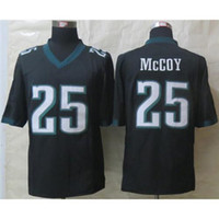 Cheap #25 LeSean McCoy Black Limited Football Jerseys Cheap American Football Uniforms High Quality Brand Embroidery Sports Jersey Mens Apparel