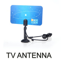 Wholesale Digital Indoor TV Antenna HDTV DTV HD VHF UHF Flat Design High Gain EU US Plug V560