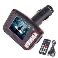 Wholesale 1 quot LCD Car MP4 MP3 Player with USB FM Transmitter remote control SD MMC Read K345