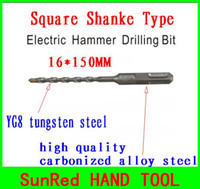 Wholesale SunRed BESTIR taiwan made mm square shank Splined Masonry Rock Concrete Drill Bits tool NO freeshipping