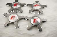 Wholesale 4pcs high quality alloy mm sline S wheel center caps hub cover chrome car badges S LINE RS ABT A3 A4L A5 A6L Q3 Q5