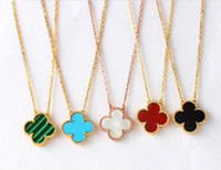 Wholesale popular French fashion brand quality goods VCA clovers female clavicle necklace k gold necklace