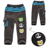 Wholesale Children s clothing autumn and winter male female child thickening fleece health pants child boy trousers baby casual pants