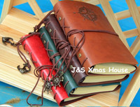 Wholesale Vintage Leather Journal Notebook Classic Retro Spiral Ring Binder Diary Book Kraft Paper Book Gifts Large Small
