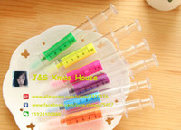 Wholesale Creative Needle Shape Fluorescent Pen Color Highlighter Marker Pen School Office Supplies Gifts For Children