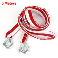 Wholesale 5 Meters Long Car Truck Breakdown Recovery Towing Webbing Strap Red White T