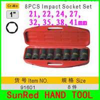 Wholesale SunRed BESTIR taiwan made Cr Mo quot Impact Socket Set air auto repair Tools kit NO On Sale and high quality