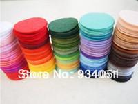 Wholesale Set of Multi Colors mm Felt Circles for Sewing Works Felt Packs
