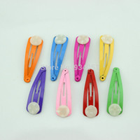 Wholesale set of colorful Metal hair clips barrettes hair pins snaps supply hair accessories for kids mm