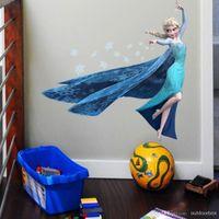 Wholesale 2014 New Frozen Home Decoration Elsa Decorative Wall Decal Kids Cartoon wallpaper child Decoration Wallaper