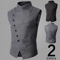 Wholesale and retail Mens Fashion Vest For men slim V neck vests Color Size M L XL XXL fast shipping