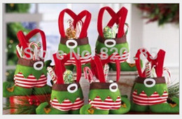 Wholesale Christmas gift bag Santa Gift Elf shape Bags For Candy X mas gift