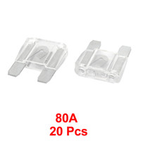 Wholesale 20 Clear Plastic Housing A Vehicle Car Auto Large Flat Blade Fuses