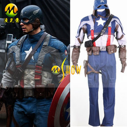 Wholesale Captain America Winter Soldier Steve Rogers Outfit Cosplay Costume Any Sizes Fedex OR UPS
