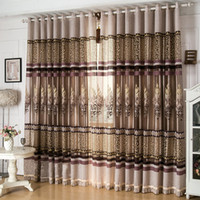 Cloth Curtain + Voile Curtain arrival window - New arrival window screen curtain finished product luxury curtain for living room embroidered tulle blackout curtain