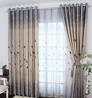 100% Polyester rustic decor - Rustic Window Curtains For living Room Bedroom Blackout Curtains Window Treatment drapes Home Decor