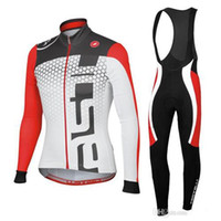 Wholesale 2014 Winter Cycling Jerseys Anti Bacterial Long Sleeves Bike Jersey Set Anti Pilling Suit Cycling Top Padded Pants Winter Gear