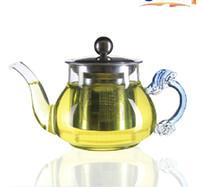 Wholesale Manufacturers dragon bottle glass pot teapot suits Stainless steel clepsydra Coloured glaze the teapot The red tea pot