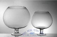 Wholesale Aquarium fish tank high foot ball cup type circular fishbowl send glass stone and lotus package damage