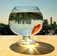 Wholesale The large size of transparent glass fishbowl glasses type ball fishbowl Bao Yunsun sent glass beads and water lily