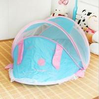 baby bed mosquito net - Cartoon musical newborn children bed baby mosquito net belt bed folding baby mosquito net bed