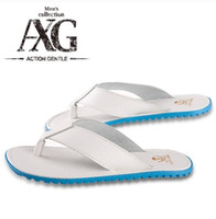 Wholesale men s flip flops comfortable rubber sole cool summer beach slipper flip flops man s shoes tide