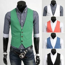 Wholesale New Men Casual Vest Male Brand Business Vest Men Fashion Waistcoat Undershirt Mens Vest M XXL