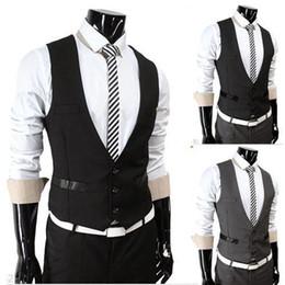 Wholesale men s vest casual suit vest tank tops vest undershirt beer for men singlet