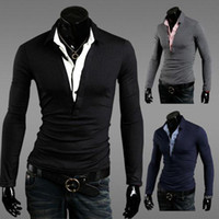 Wholesale 2014 Top quality Have Logo Men and Women fake two piece Polo Shirt Men s Shirt Brand Men polos Shirts slim fit camisas polo Drop Shipping