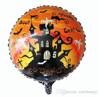 halloween bat - New party accessories inch Halloween balloon bat house for party decoration Aluminium foil balloon helium ballloom