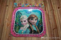 Wholesale 10pcs Frozen Elsa Anna party Decoration baby boys girls birthday party Supplies kids frozen plate cake plate cm