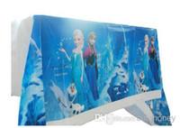 Wholesale Frozen birthday party decoration Favors Frozen Tablecloth Covers Frozen Anna Elsa Party Supplies M