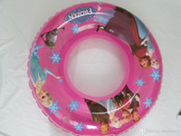Wholesale Frozen inflatable Swimming Laps baby girls Elsa Anna Swimming Rings kids princess underarm laps