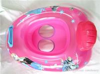 kid swimming pool - Retail Frozen Swimming Rings baby girls princess Elsa Anna PVC inflatable Swimming pool seat kids Cartoon boat