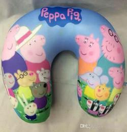 Wholesale New arrival Peppa Pig U shape Pillows baby boys girls Neck nap Pillow kids Geroge Pig pillows styles
