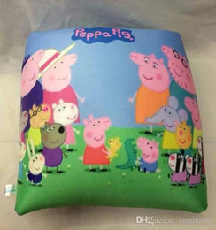 Wholesale Peppa Pig Square Pillows Geroge Pig throw pillow children nap Pillow styles