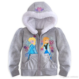 Wholesale 5pcs baby girls Frozen coat Children princess Elsa Anna Hoodies Sweatshirts Kids winter warm coat jacket