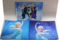 Wholesale Frozen document bag Filing Products file pocket Kids Anna Elsa Bag children school bag zippered bag