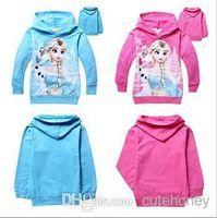 children apparel - New boys girls cartoon Frozen Hoodies kids Elsa Olaf Sweatshirts Children spring autumn hoody Apparel