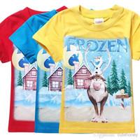 100 % cotton t shirts - Children s Summer Cute Olaf t shirt cotton baby boys girls short sleeve frozen t shirt tops top